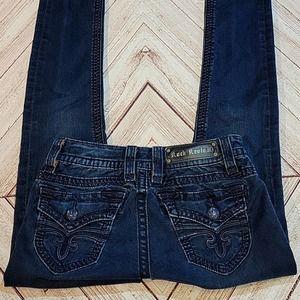 Rock Revival Black 26 Jen Skinny Jeans Low Rise